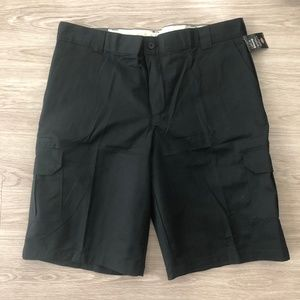 Dickies Cargo Shorts Relaxed Fit Sz 42 Black